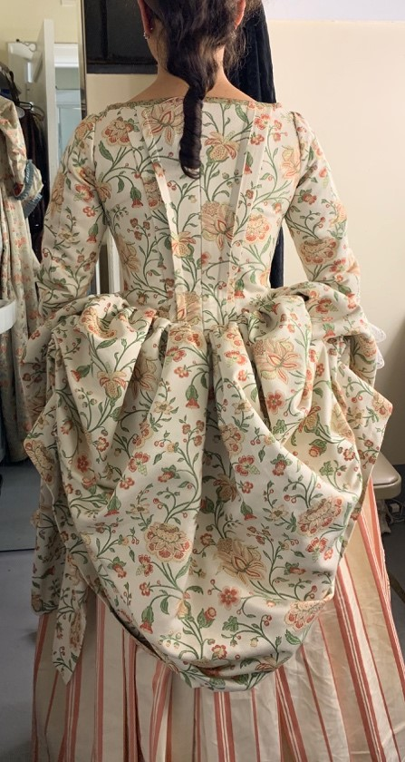 Constanze's dress to visit Salieri. Amadeus, Folger Theatre, 2019. Costume Design and Photo: Mariah Anzaldo Hale.