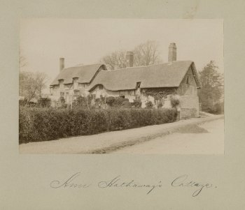 Anne Hathaway's cottage, exterior views [graphic], early 20th century. Folger Shakespeare Library: ART File S899h2 no.27 part 12 PHOTO (size XS)