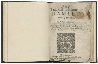 The tragicall historie of Hamlet, Prince of Denmarke, by William Shakespeare, 1604. Folger Shakespeare Library: STC 22276