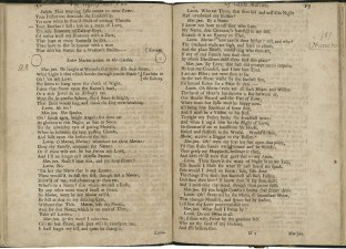 """Pages from 'The History and Fall of Caius Marius' including the line """"Marius, Marius, wherefore art thou Marius?"""""""