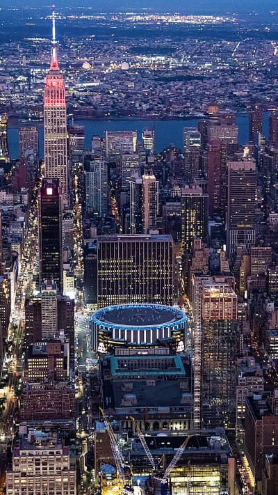 Empire State Building and Madison Square Garden, New York ...