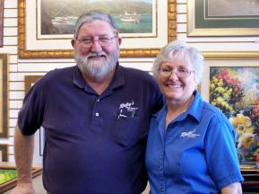 Ridley's Custom Frames & Art Owners: Tom & Peggy Ridley Quality & Service at Reasonable Prices 2280 Harris Ave. Palm Bay, FL Corner of Harris Ave & Palm Bay Rd. 321-725-8811