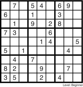 Sudoku October 2014