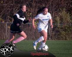 Shaker's Erin Valente, right, was named a first team All-State girls soccer player in Class AA. Jim Franco/Spotlight