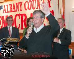 State Sen. Neil Breslin at the Polish American Citizens Club on Election Day (photo by Jim Franco/Spotlight News)
