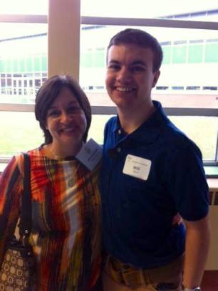 Will with Mary, a Decoding Dyslexia - NJ parent volunteer. Thanks Mary for helping!