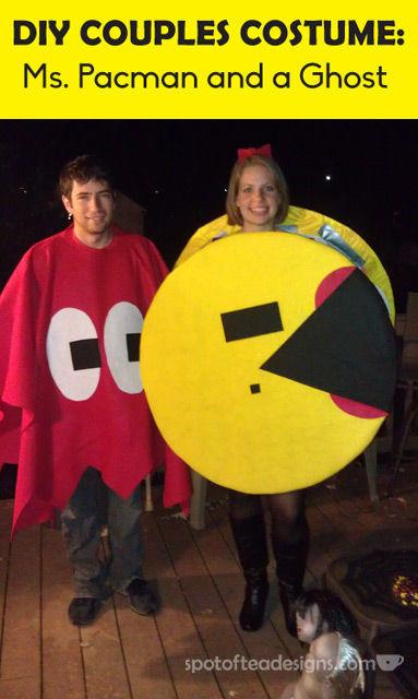 Diy Pac Man Couples Halloween Costume Guest Post Spot