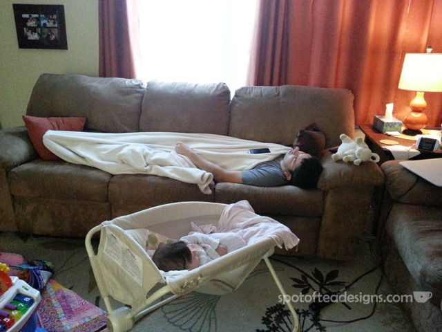 First Time Dad Advice: Sleep when the baby sleeps | spotofteadesigns.com