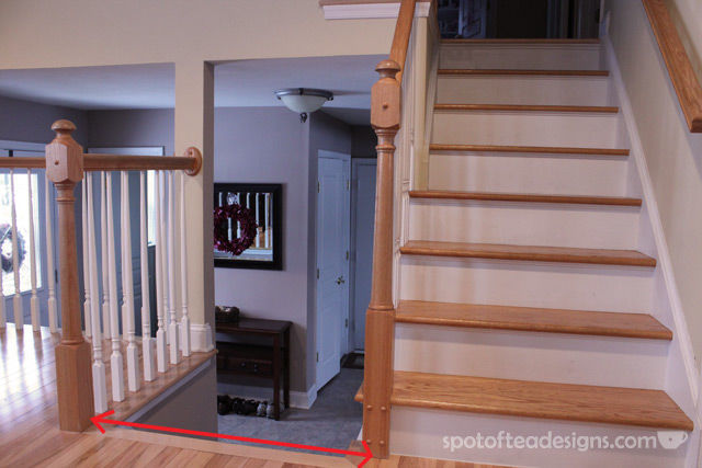 Installing a banister to banister baby gate tutorial | spotofteadesigns.com