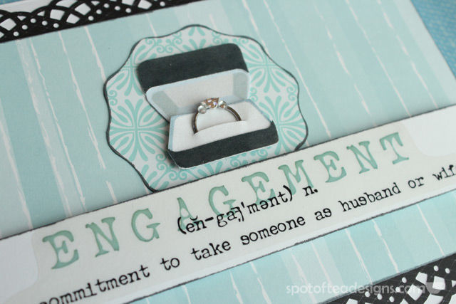 Handmade Card for Wedding Engagement | spotofteadesigns.com