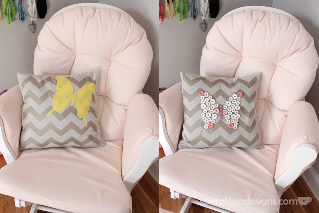 Tulip #ForYourHome Stenciled Pillow Tutorial | spotofteadesigns.com
