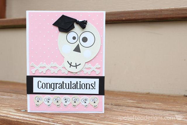 Handmade Graduation Card for someone earning a degree in Radiology | spotofteadesigns.com