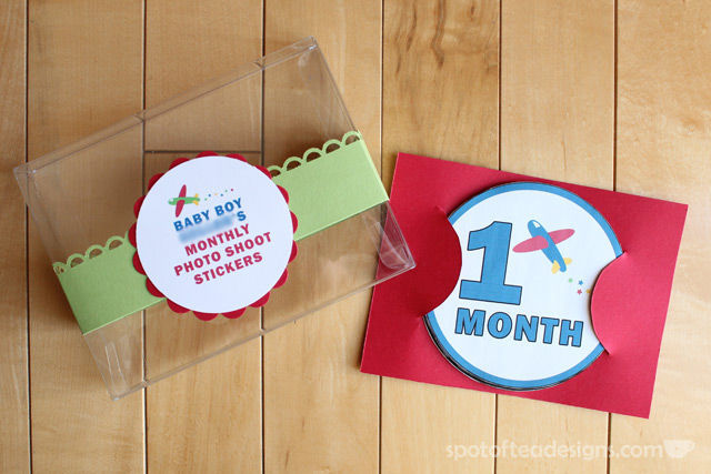 DIY Monthly Belly Stickers: baby Shower gift   spotofteadesigns.com