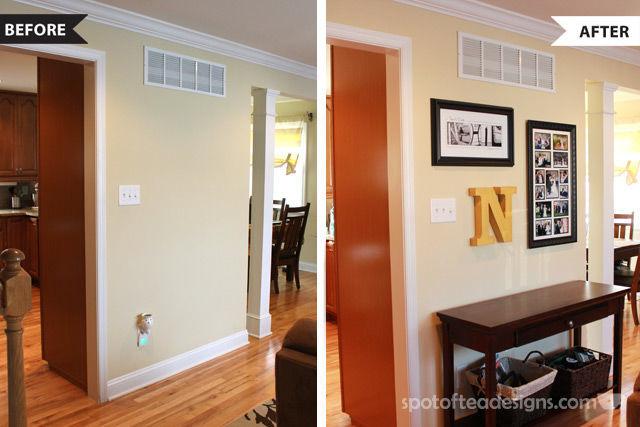 Turn a blank wall into a fun gallery display | spotofteadesigns.com