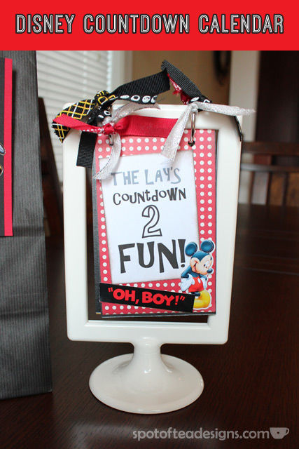 #Disney themed Countdown Calendar: countdown from ten days to one | spotofteadesigns.com