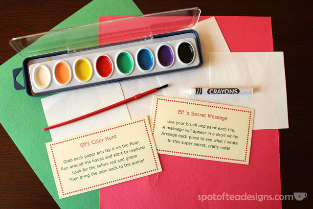 2 Easy #ElfOnTheShelf Ideas with Free #Printables | spotofteadesigns.com
