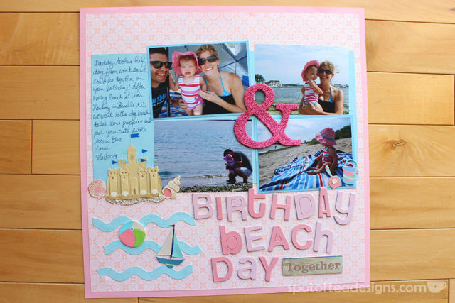 Baby Book done at Scrapbook. Birthday Beach Day featuring Martha Stewart Crafts | spotofteadesigns.com