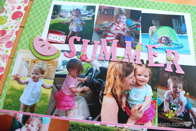 Baby Book as Scrapbook - Summer Title from K&Company | spotofteadesigns.com