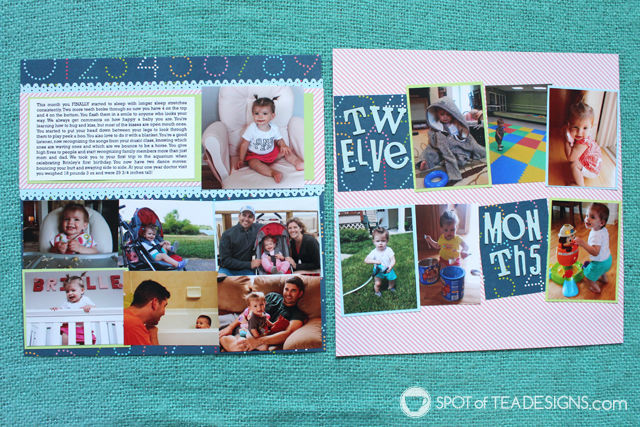 Baby book #Scrapbook: Month 12 highlights | spotofteadesigns.com