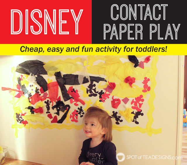 Toddler Craft Activity: #Disney Contact paper play | spotofteadesigns.com