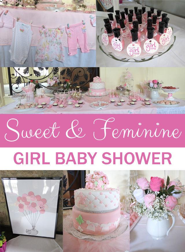 Sweet and Feminine Girl #BabyShower #Party | spotofteadesigns.com