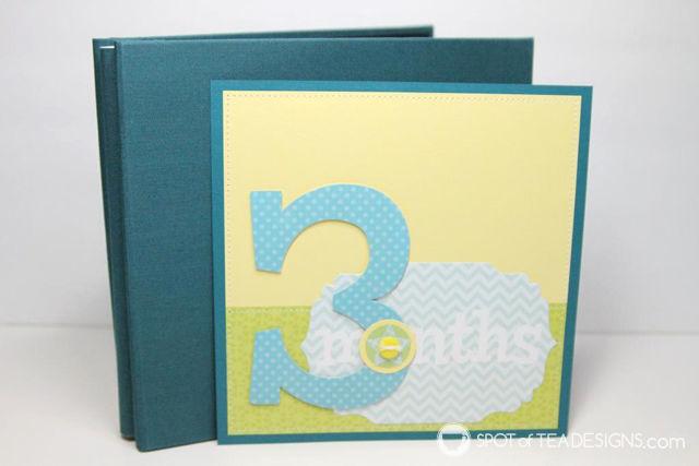 Baby's First Year Scrapbook Album Gift | spotofteadesigns.com
