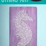 Under the Sea Nursery: Seahorse String Art with Free Printable