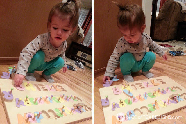 Personalized gift ideas for kids - wooden name puzzle | spotofteadesigns.com