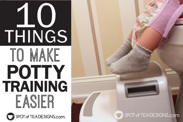 10 Things to make potty training easier. #pottytraining #toddler #parenting | spotofteadesigns.com