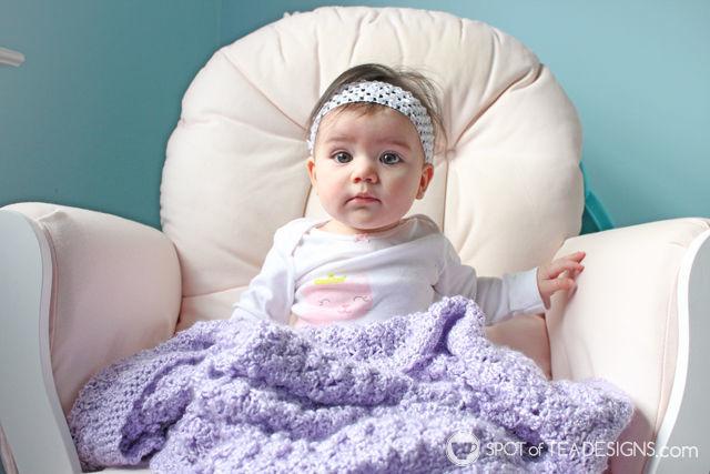Handmade baby blanket | spotofteadesigns.com