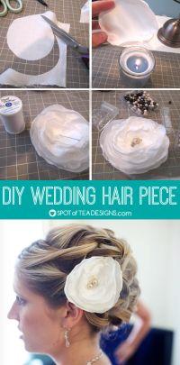 DIY Wedding Hairpiece | Spot of Tea Designs