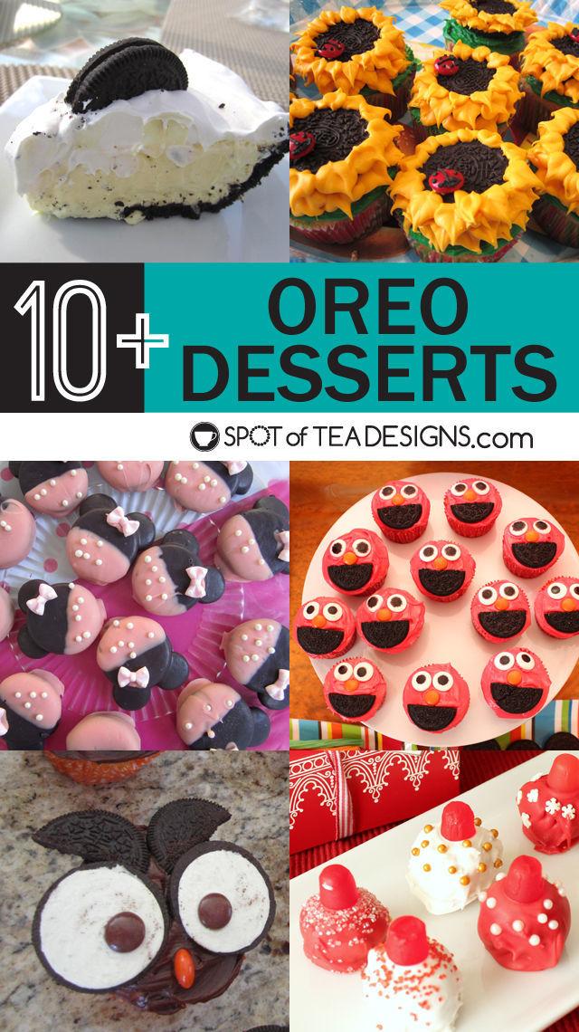 Over 10 Oreo Desserts - #recipes #cupcakes #cookies #desserts | spotofteadesigns.com