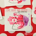 Bugs and Kisses Valentines Footprint Kids Craft with Free Printable