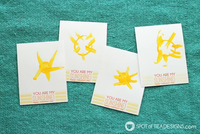 Sunshine Valentines Kids Crafts - recycled painting activity for toddlers   spotofteadesigns.com