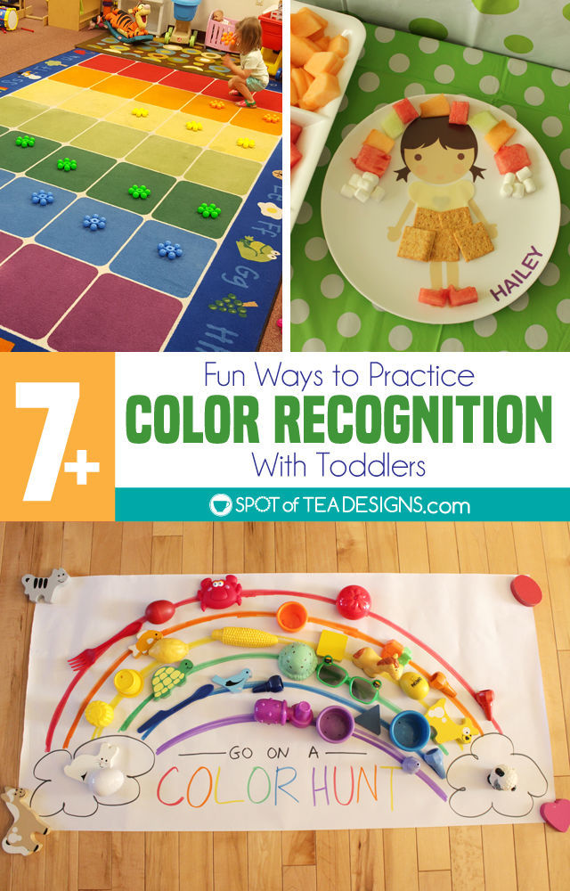 Over 7 fun ways to practice color recognition with toddlers | spotofteadesigns.com