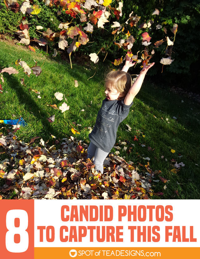 8 candid photos of your kids to capture this fall | spotofteadesigns.com