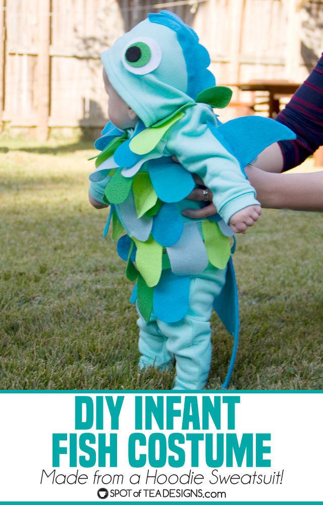 Handmade Halloween infant fish costume tutorial | spotofteadesigns.com