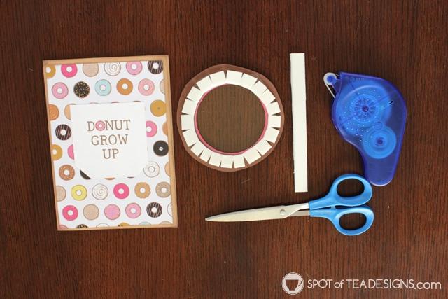 Donut Party Shaker Card Invitation Tutorial | spotofteadesigns.com