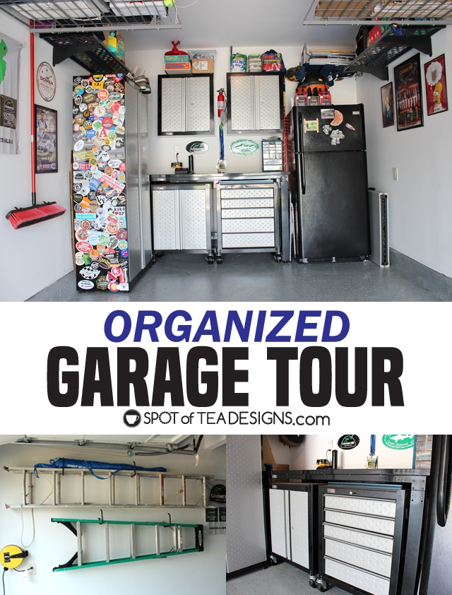 Organized garage tour | spotofteadesigns.com