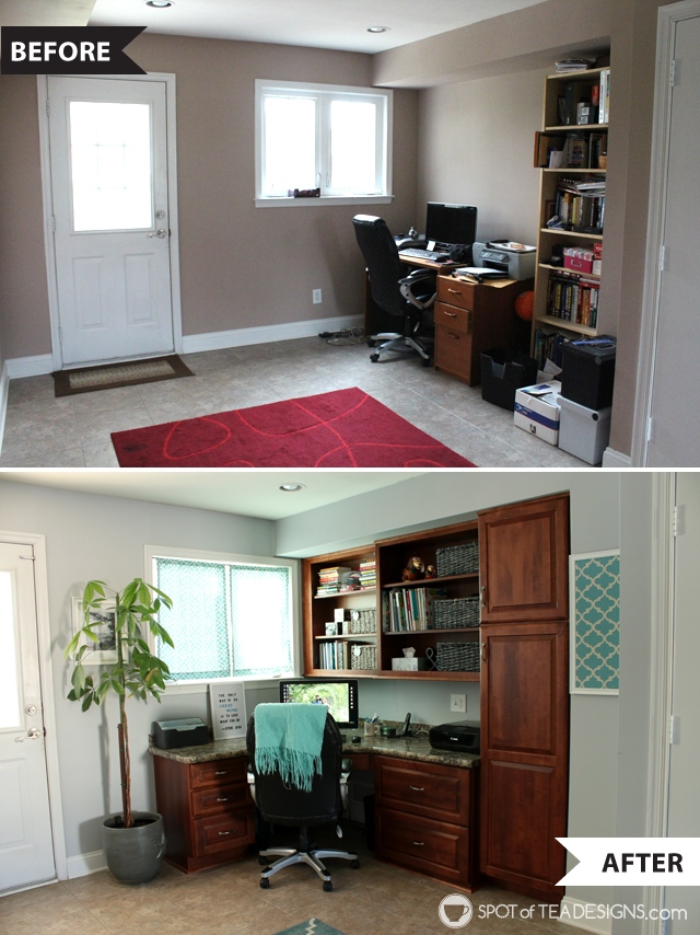 staples office chair cheap theater chairs home makeover   reveal photos spot of tea designs