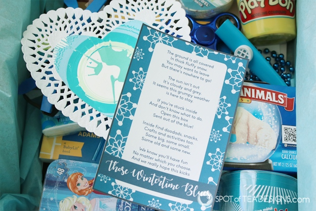 Wintertime Blues Package - put together for friend this winter! | spotofteadesigns.com