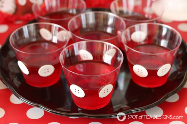 Cute Jello Party desserts - mickey mouse party | spotofteadesigns.com