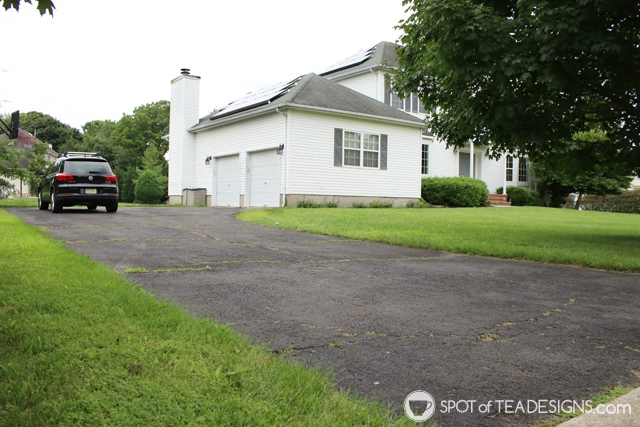"Nehil Home Tour: the ""before"" photos - driveway 