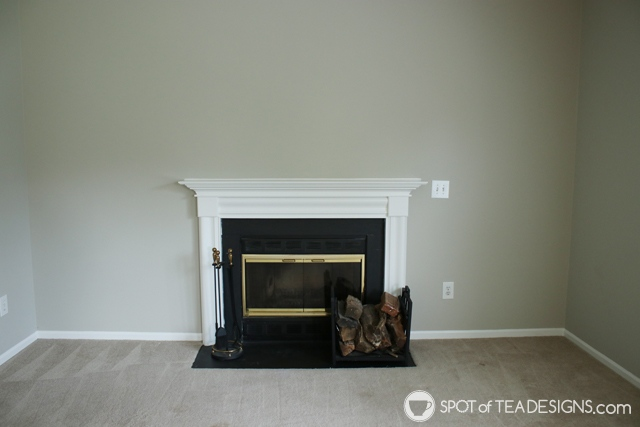 "Nehil Home Tour: the ""before"" photos - living room fireplace 