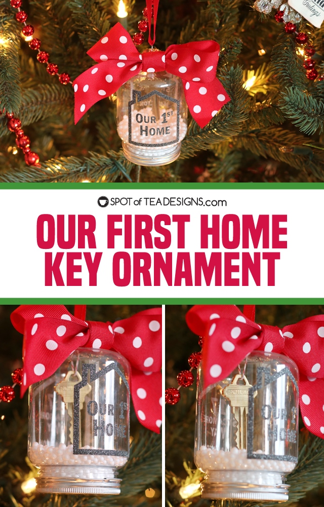 Our First Home Key Christmas Ornament Spot Of Tea Designs