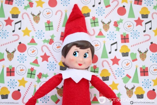 Elf on the Shelf Idea - Christmas I Spy Free Printable | spotofteadesigns.com