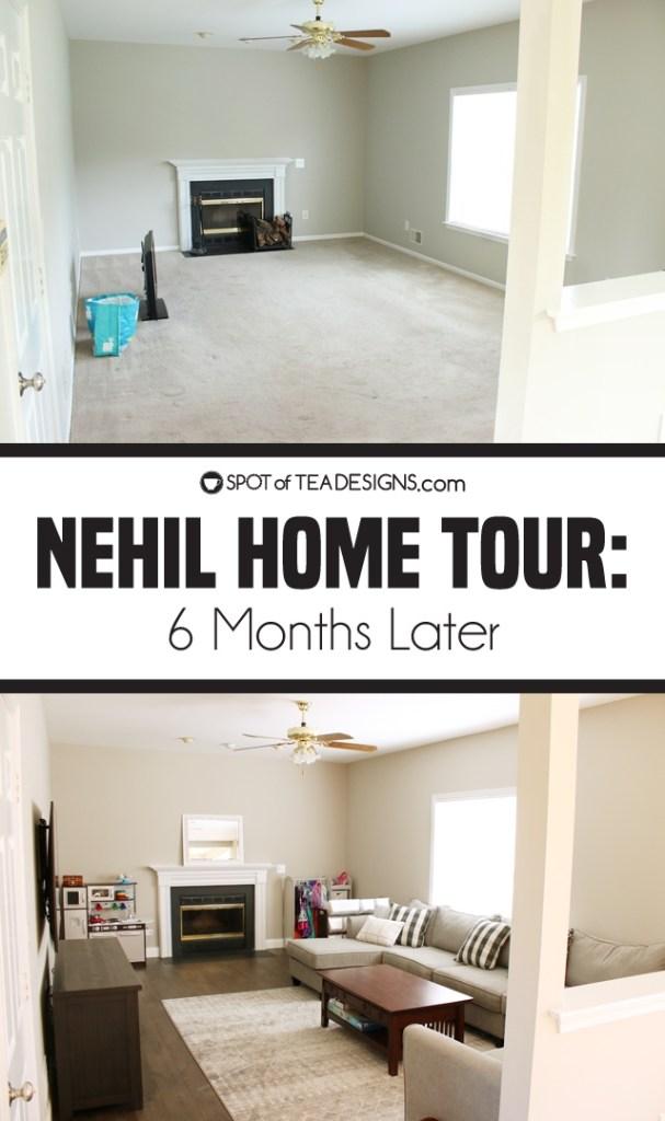 Nehil HOme Tour - 6 months after purchasing | spotofteadesigns.com