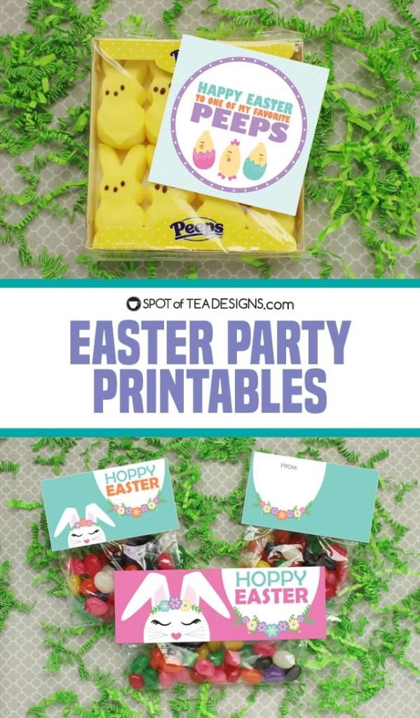 Easter party printables | spotofteadesigns.com