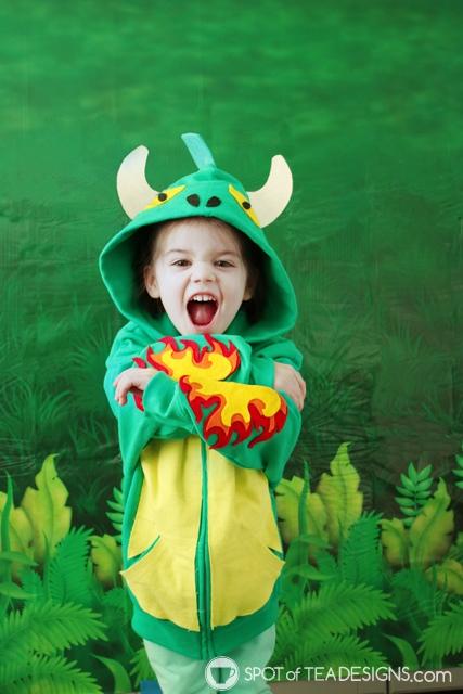 DIY Hoodies for kids - dragon   spotofteadesigns.com