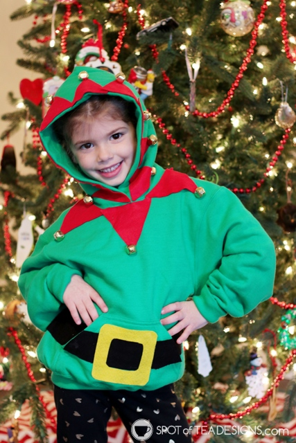 DIY Hoodies for kids -elf | spotofteadesigns.com